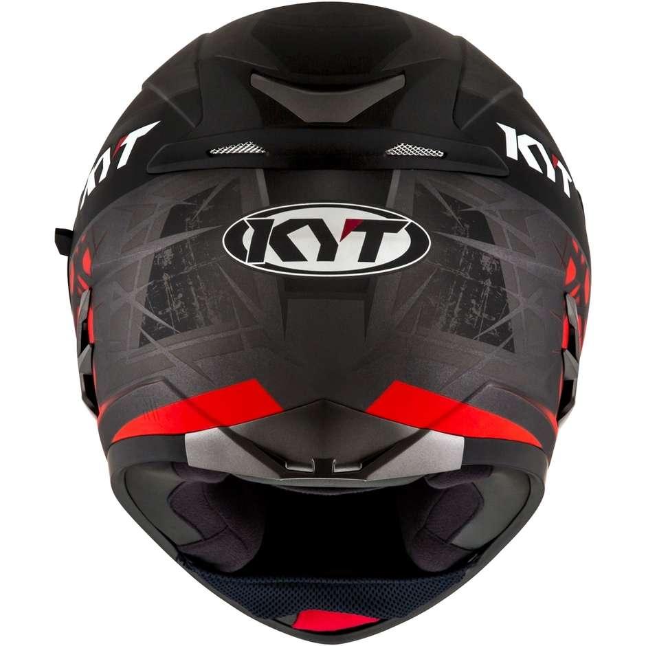 Casque Moto Intégral KYT FALCON 2 RIFT Rouge Anthracite