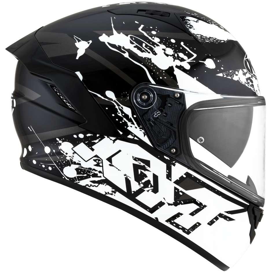 Casque moto intégral KYT NF-R NEUTRON Blanc
