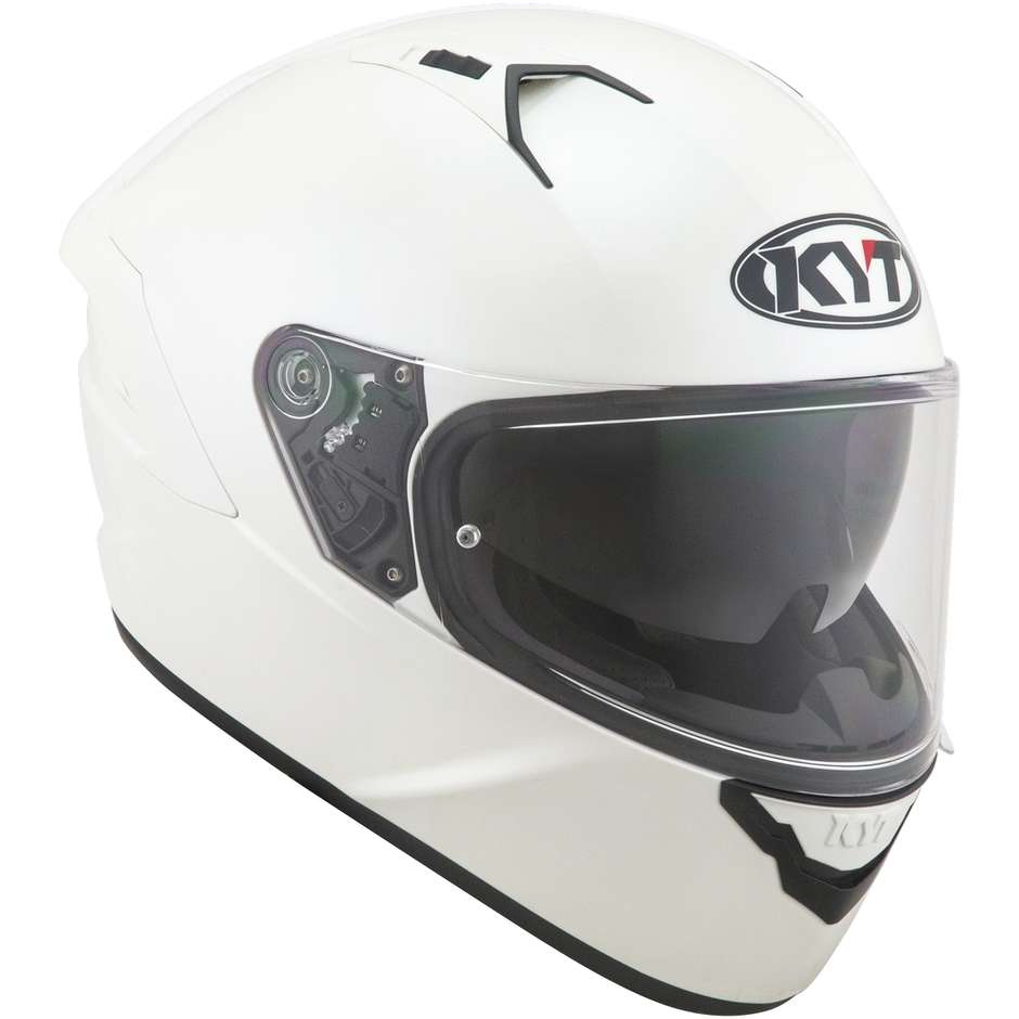 Casque moto intégral KYT NF-R PLAIN PEARL Blanc