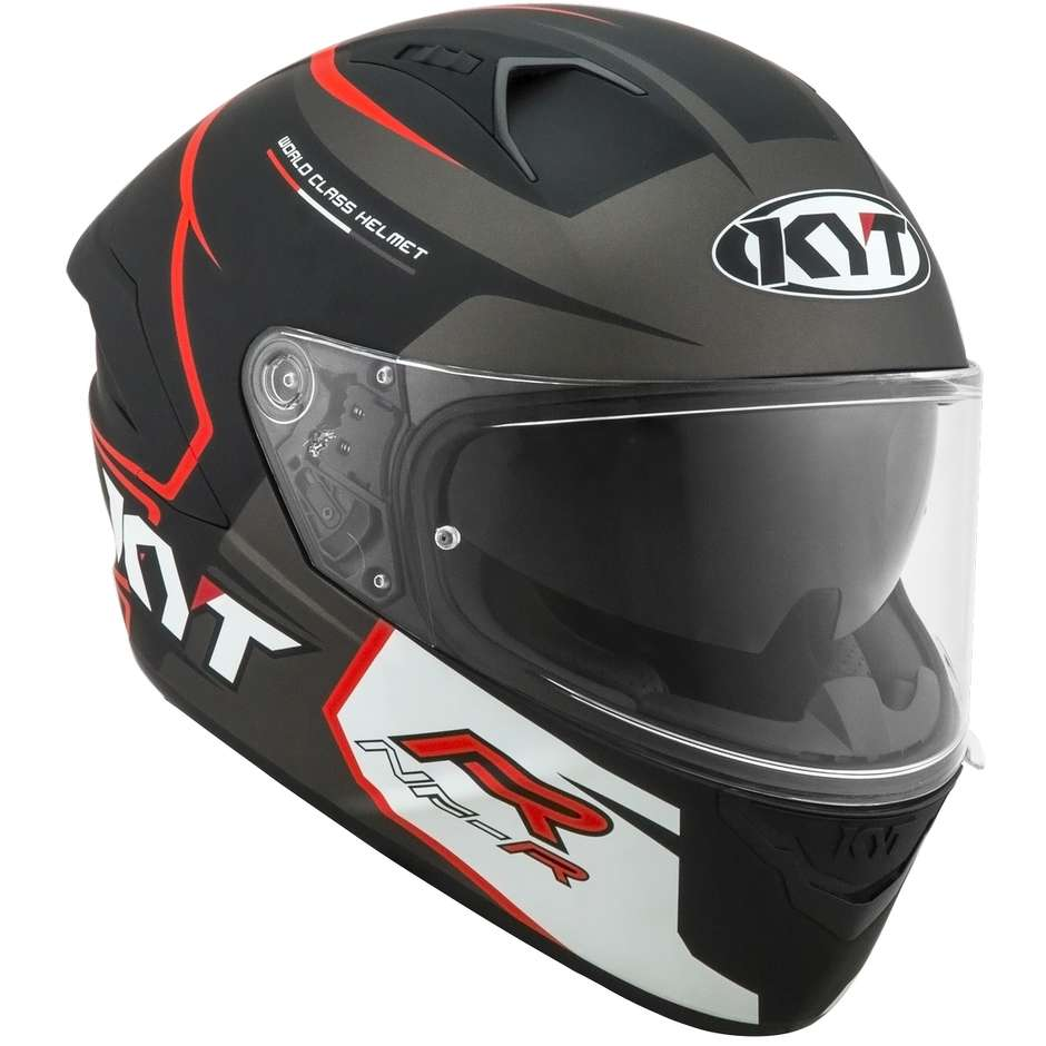 Casque moto intégral KYT NF-R TRACK Matt Grey
