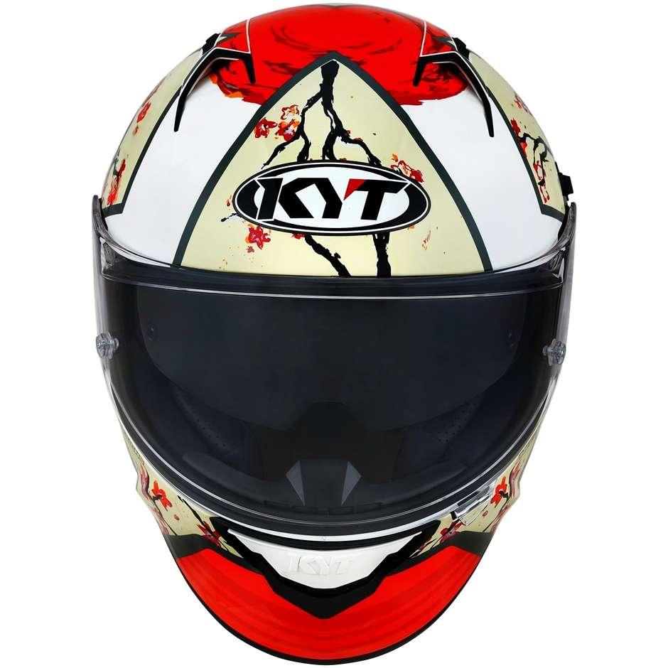 Casque moto intégral KYT NF-R XAVI SAKURA