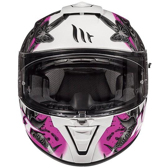 Casque moto intégral MT Casques BLADE 2 SV BREEZE D8 Noir Glossy Pink