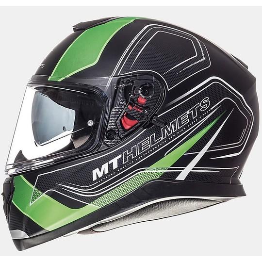 Casque moto intégral MT Casques Thunder3 SV Trace Noir Vert Fluo Matt
