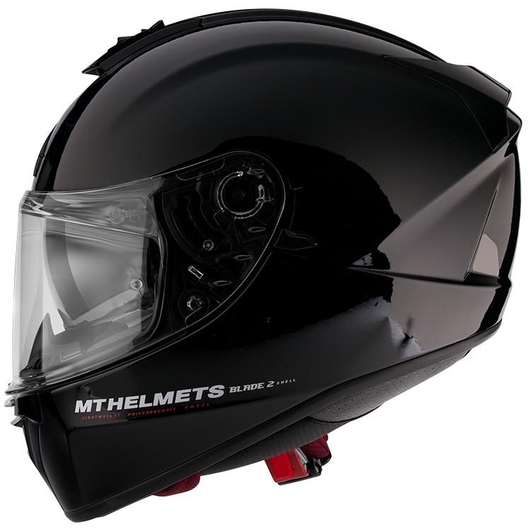 Casque moto intégral MT Helmets Blade 2 Evo Double Visor A1 Glossy Black