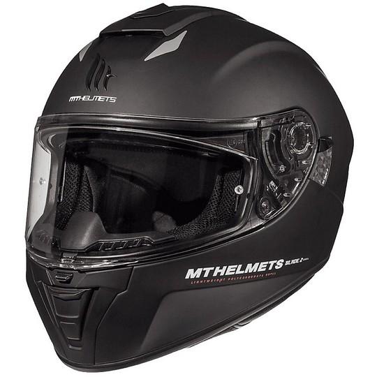 Casque moto intégral MT Helmets Blade 2 Evo Double Visor A1 Matt Black