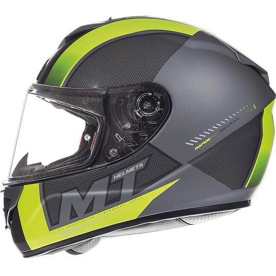 Casque moto intégral MT Helmets Rapide Overtake B1 Matt Yellow