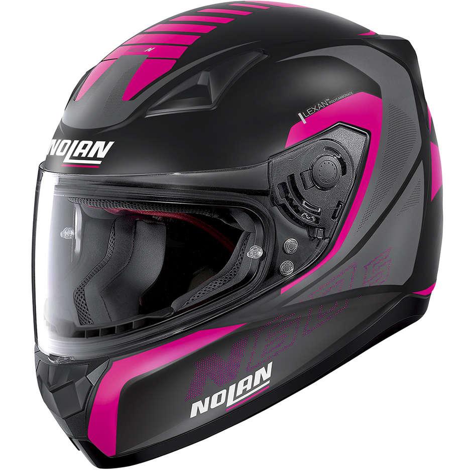 Casque moto intégral Nolan N60.5 ADEPT 083 Matt Black Pink