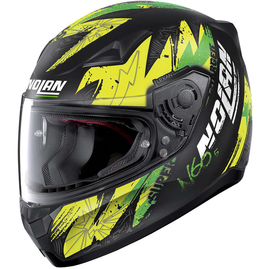 Casque moto intégral Nolan N60.5 BOUNTY 079 Matt Black Yellow