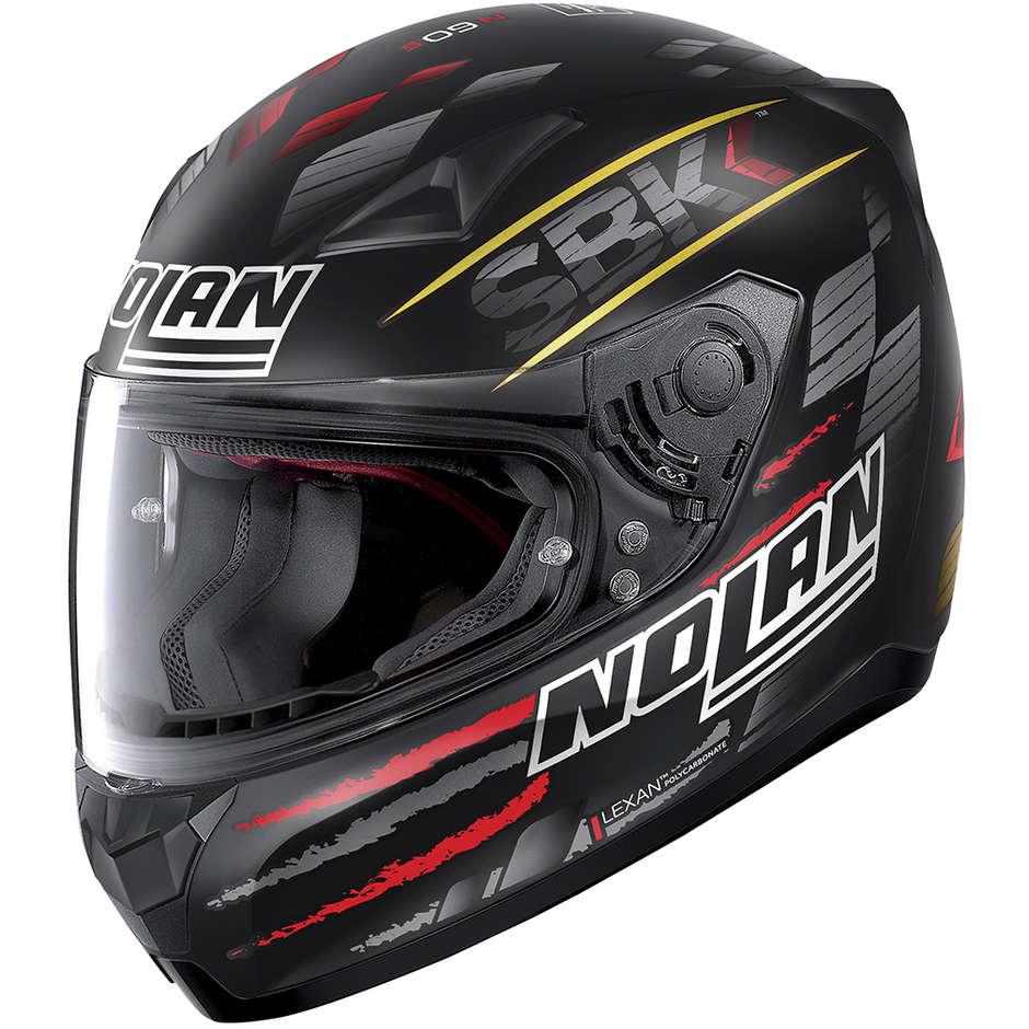 Casque moto intégral Nolan N60.5 SBK 084 Matt Black Red