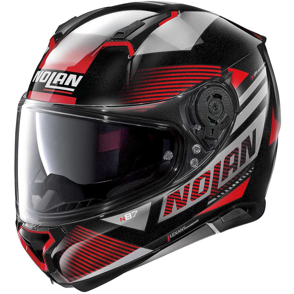 Casque moto intégral Nolan N87 JOLT N-Com 101 Black Metal Red