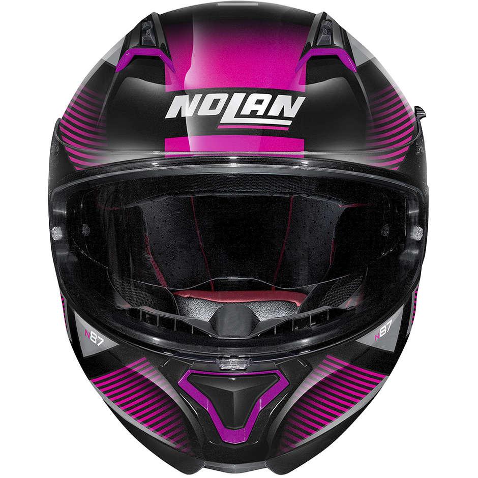 Casque Moto Intégral Nolan N87 JOLT N-Com 103 Black Metal Rose