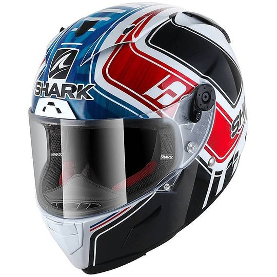 Casque moto intégral Racing Shark RACE-R Pro ZARCO GP France Blanc Bleu Rouge