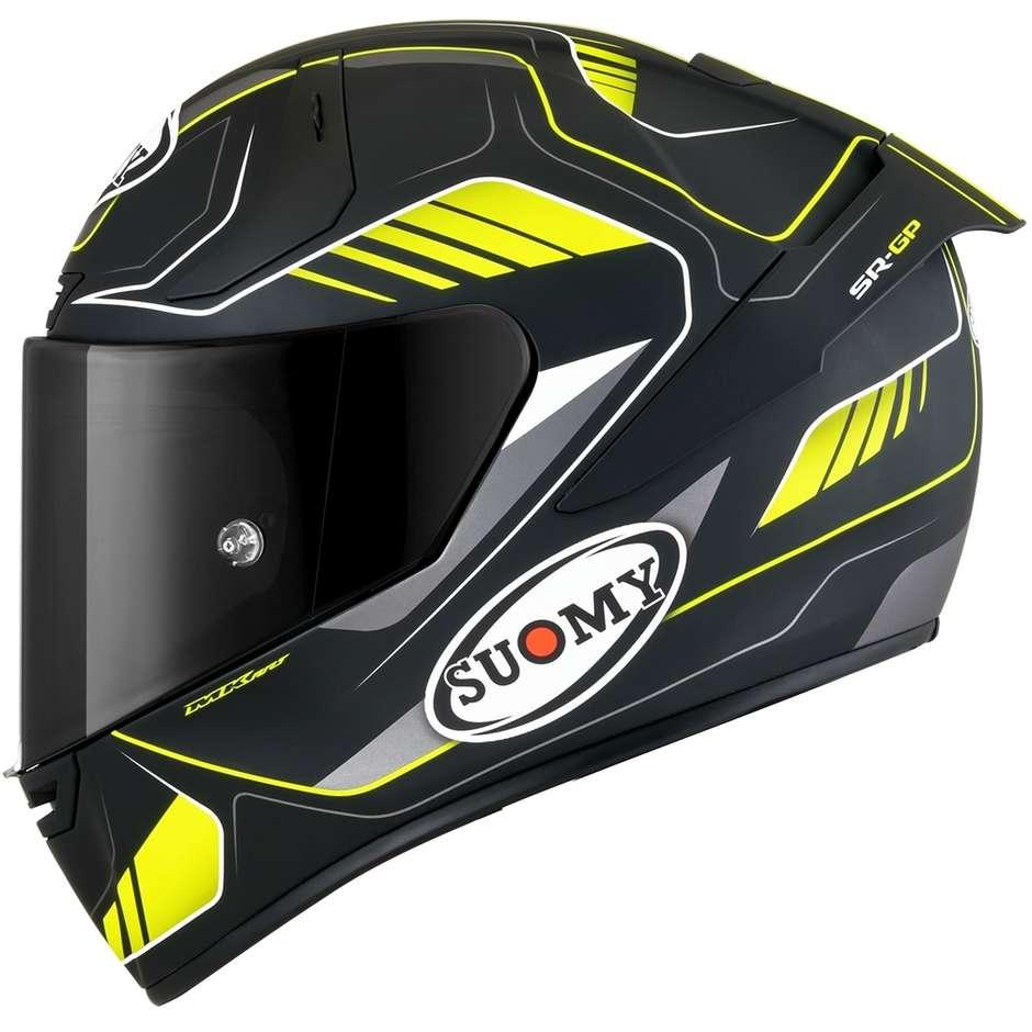 Casque Moto Intégral Racing Suomy SR-GP GAMMA Noir Mat Jaune