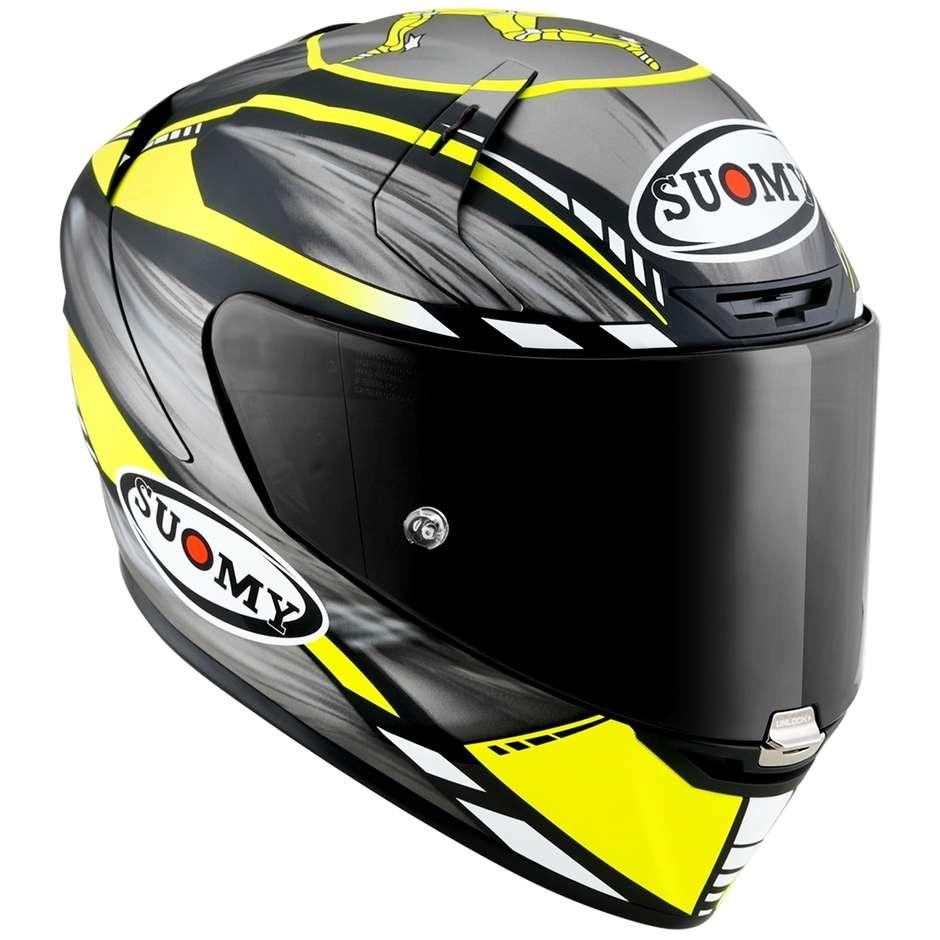 Casque Moto Intégral Racing Suomy SR-GP ON BOARD Gris Jaune Fluo Matt