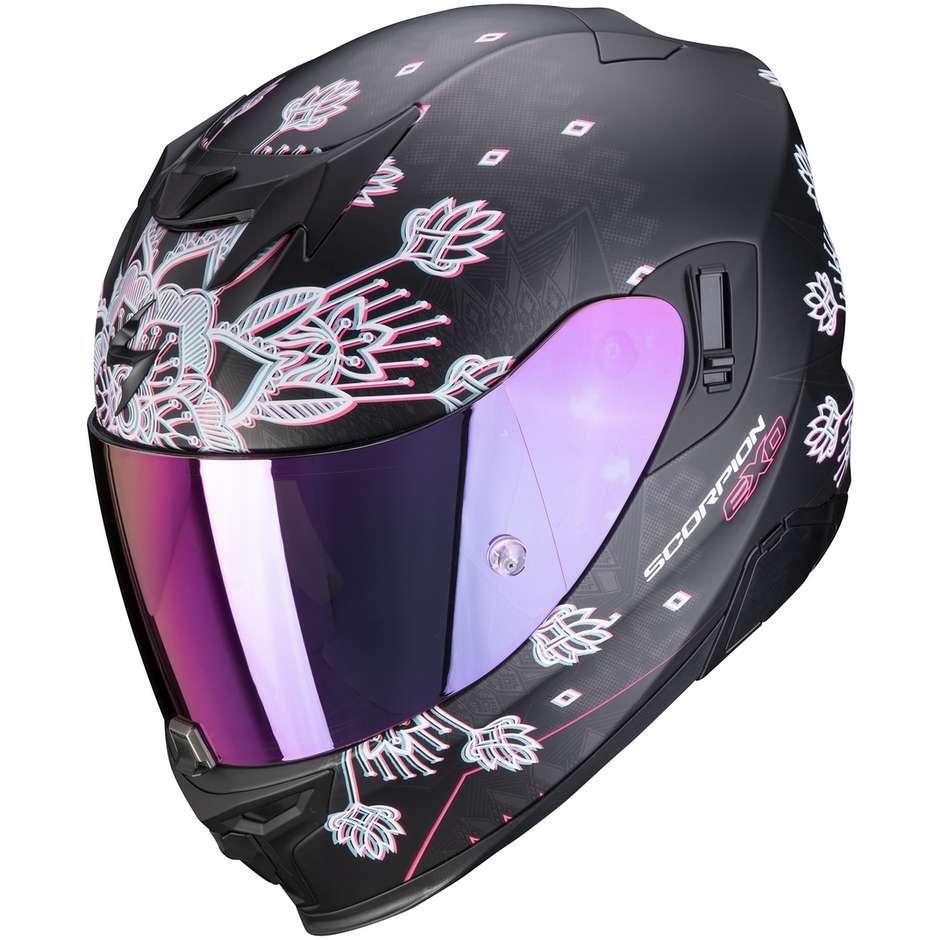 Casque moto intégral Scorpion EXO-520 AIR TINA Matt Black Silver
