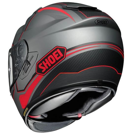 Casque moto intégral SHOEI GT-AIR Pendulum Tc10 Gris Noir Rouge