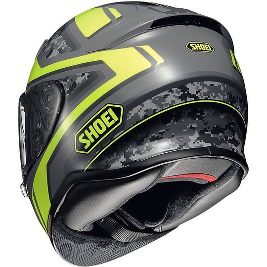Casque moto intégral SHOEI NXR Parameter TC3 Anthracite Yellow