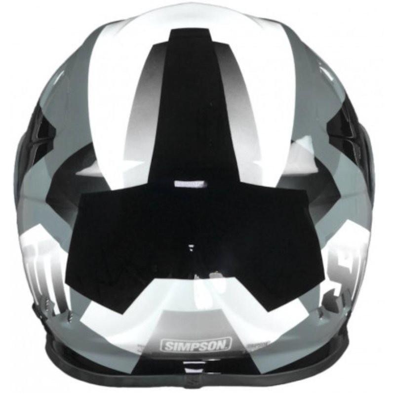 Casque moto intégral Simpson Venom Army White Double Visor