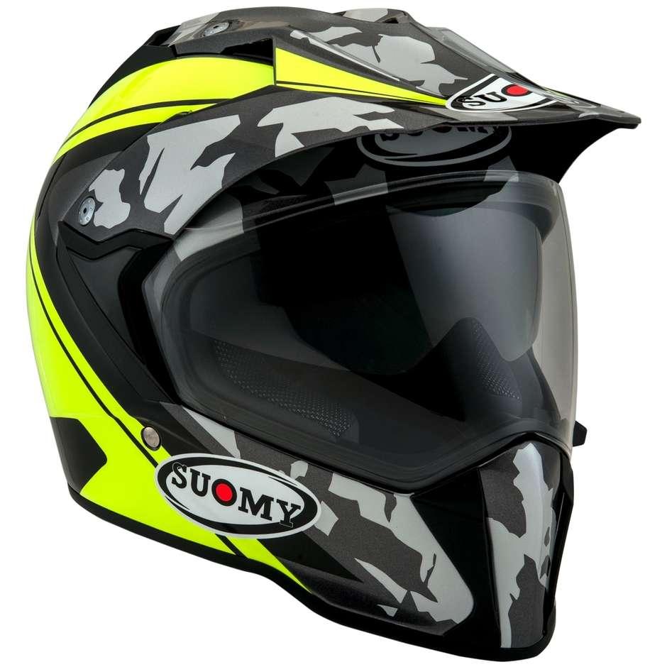 Casque moto intégral Sport Touring Suomy MX TOURER Desert Yellow Fluo Matt
