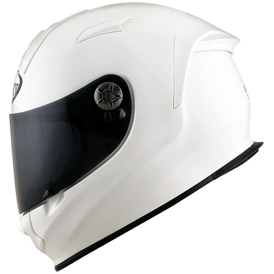 Casque moto intégral Suomy SR-SPORT PLAIN Fiber White