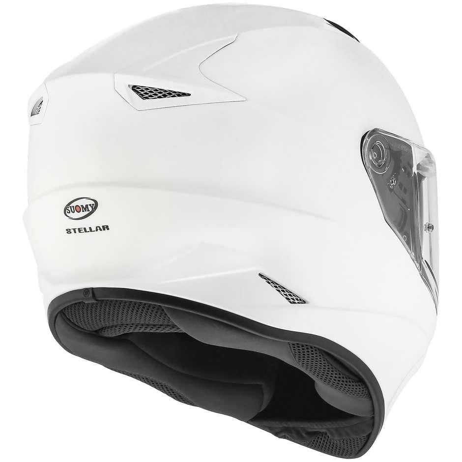 Casque moto intégral Suomy STELLAR PLAIN Blanc