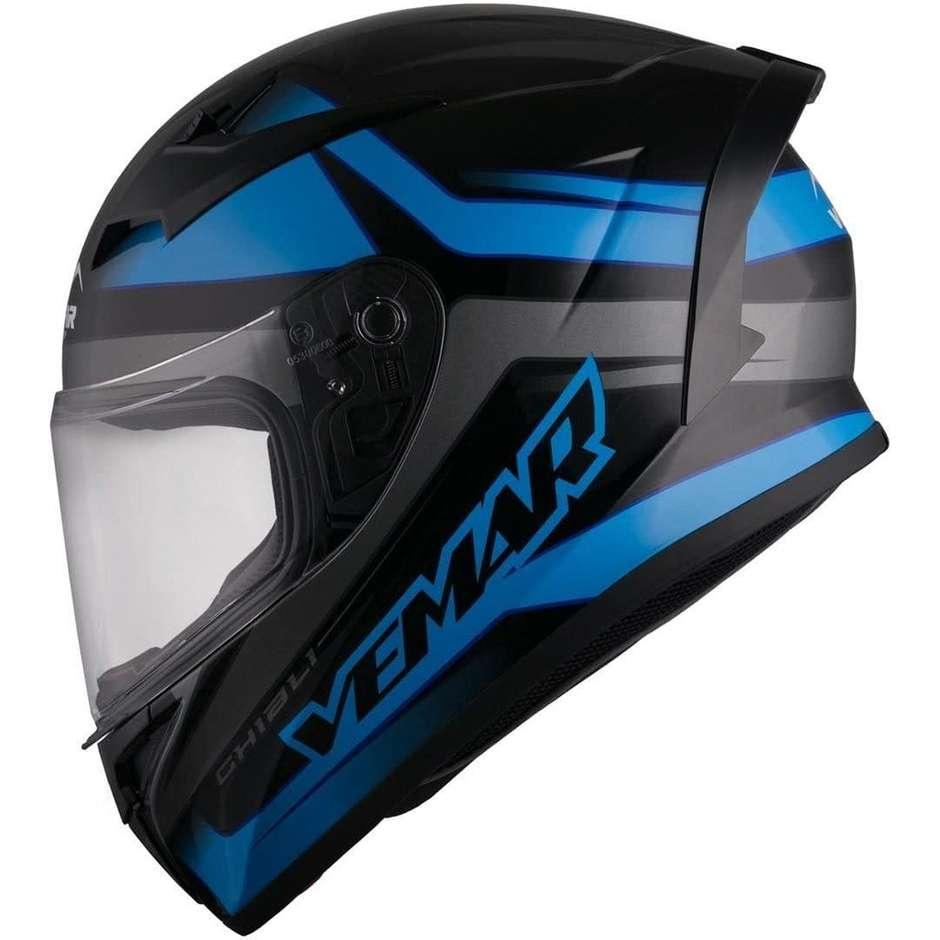 Casque Moto Intégral Vemar VH Ghibli Base Noir Bleu