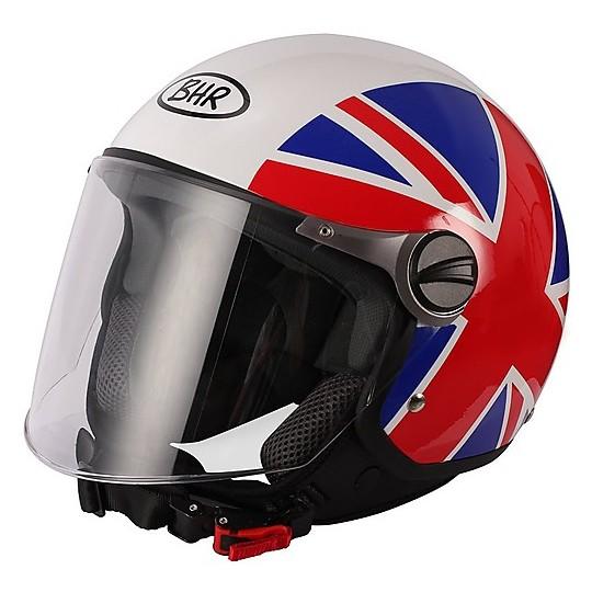 Casque moto Jer avec visière longue BHR 710 coloration drapeau anglais