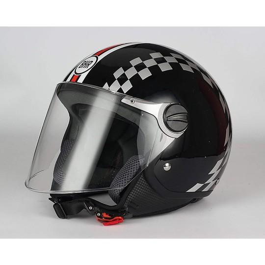 Casque moto Jer avec visière longue BHR 710 Racing coloriage