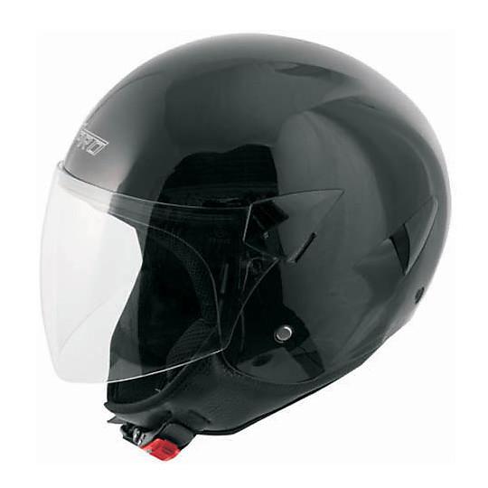 Casque Moto Jet A-Pro Model Micra Glossy Black