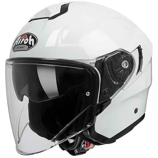 Casque moto Jet Airoh Hunter Color Glossy White