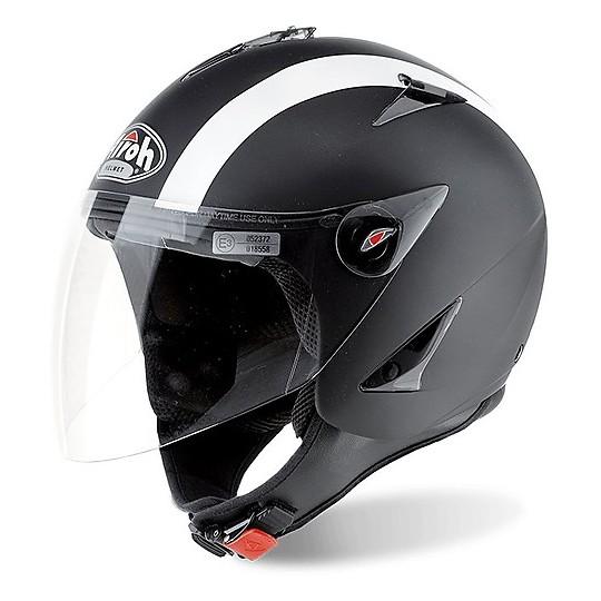 Casque moto Jet Airoh Jt BiColor Matt Black
