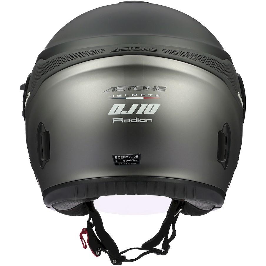 Casque Moto Jet Astone DJ10-2 RADIAN Grey Glossy Black