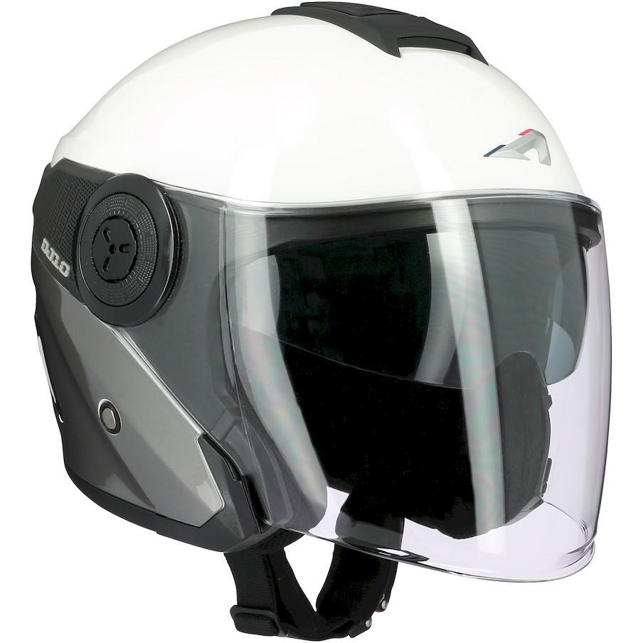 Casque Moto Jet Astone DJ10-2 RADIAN Gris Blanc