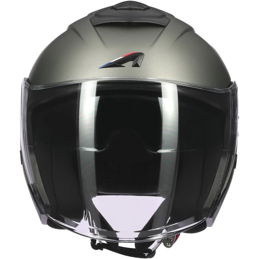 Casque Moto Jet Astone SUPERJET Monocolor Matt Titanium