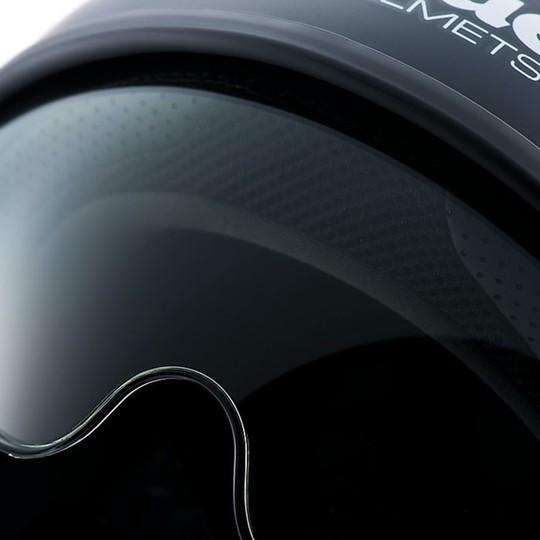 Casque moto Jet Blauer Pilot 1.1 HT en fibre mono noir opaque noir