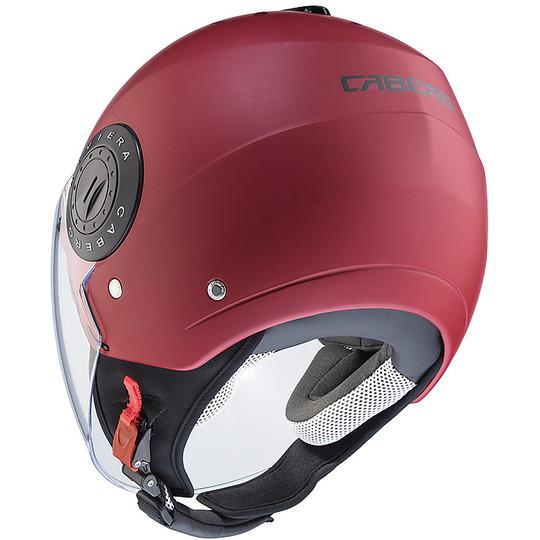 Casque moto Jet Caberg Riviera V3 Red Matt Wine