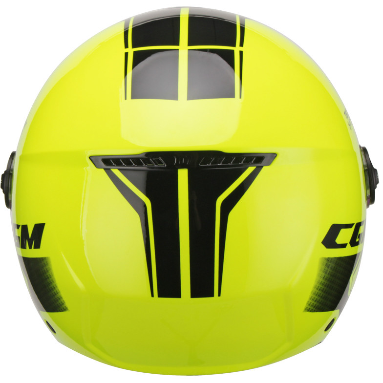 Casque Moto Jet CGM 107X FLORENCE Tech Black Yellow Fluo Shaped Visor