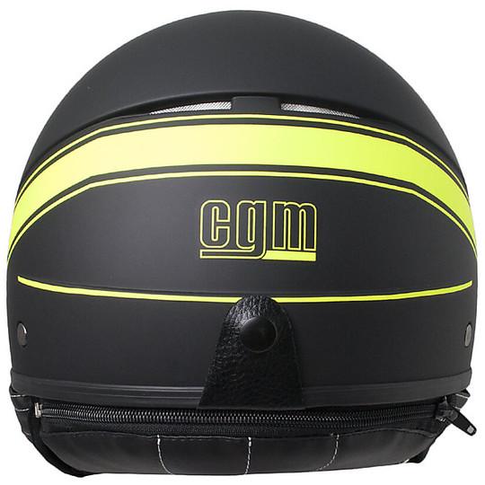 Casque moto Jet CGM 109s Shiny Matt Black Yellow