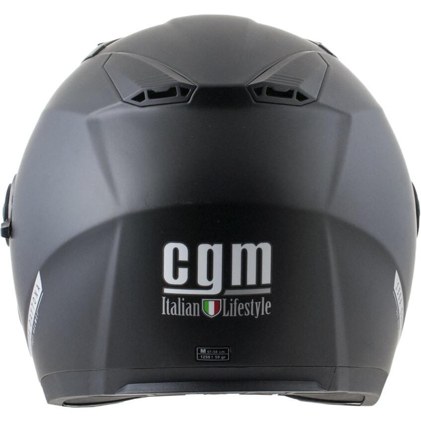 Casque Moto Jet CGM 130a DAYTONA Mono Matt Black