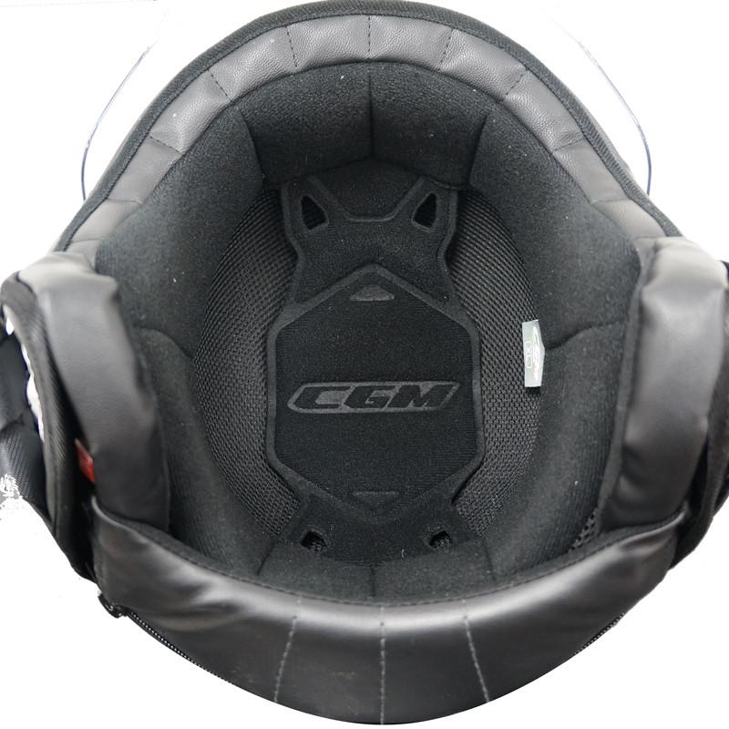 Casque Moto Jet CGM GLOBO Sport Grey Fuchsia Fluo Long Visor