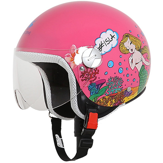 Casque moto Jet Child Rodeo Drive RD109 Kids Multi Pink Sirens