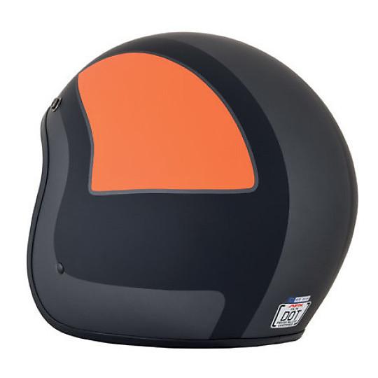 Casque moto Jet Custom AFX FX-76 Tricolor Black Matt Orange