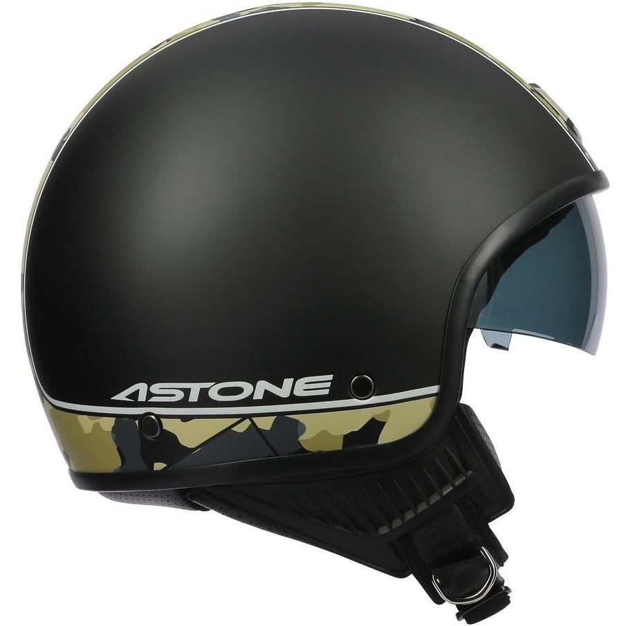 Casque Moto Jet Custom Astone MINI66 Camo Matt Black
