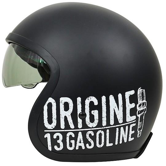 Casque moto Jet Custom Origin SPRINT GASOLINE 13 Matt Black