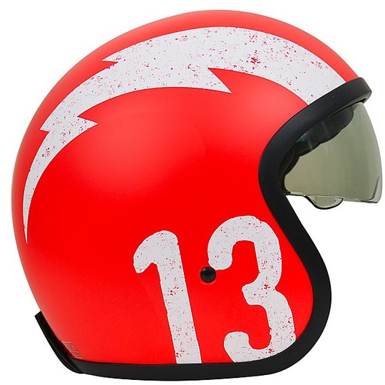 Casque moto Jet Custom Origin SPRINT GASOLINE 13 Matt Red