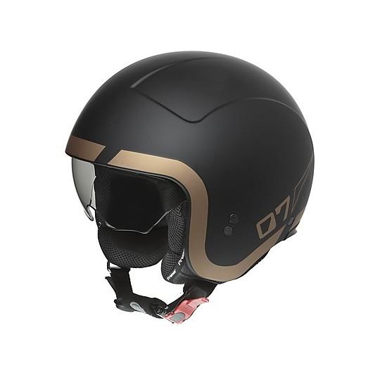Casque moto Jet Custom Premier ROCKER LN 19 BM Black Matt Gold