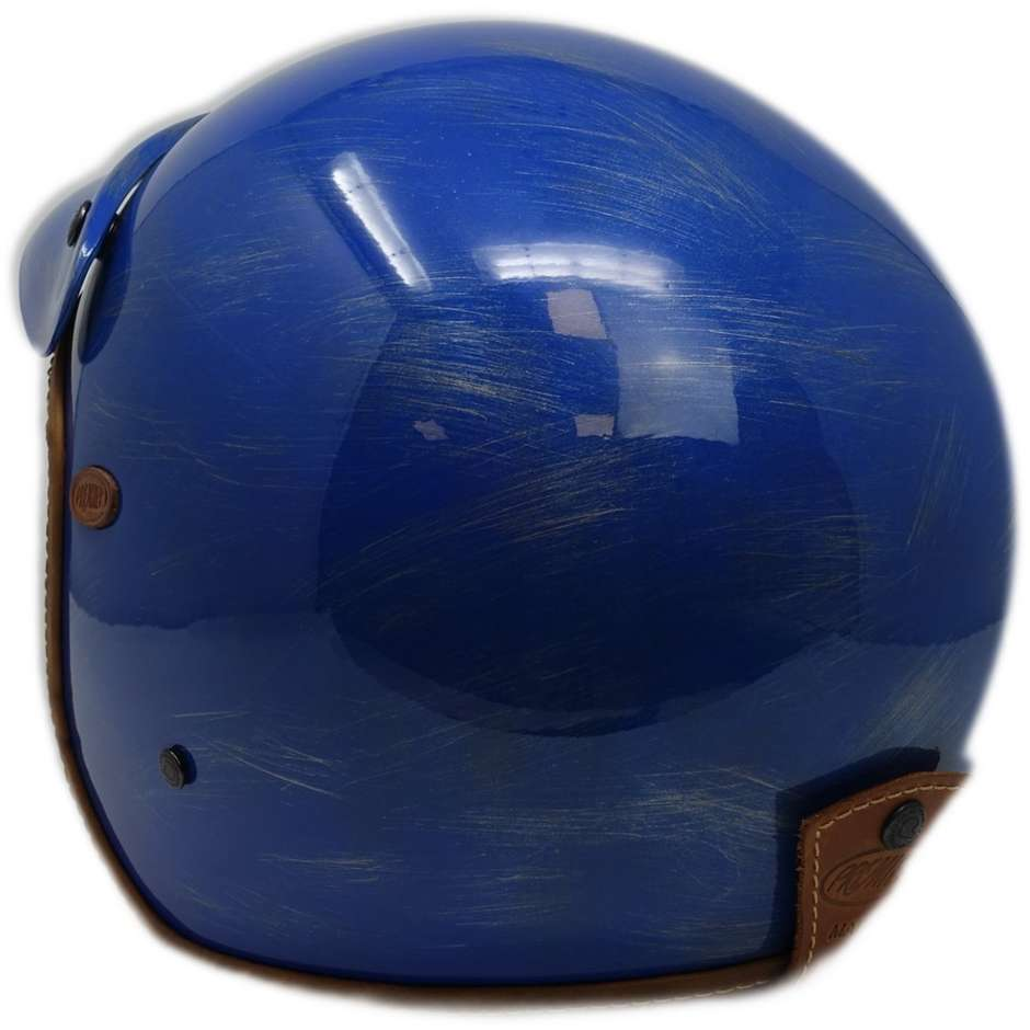 Casque Moto Jet Custom Premier VINTAGE BABY BLUE OS Limited Edition