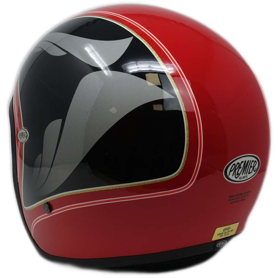 Casque Moto Jet Custom Premier VINTAGE HE 1 Limited Edition