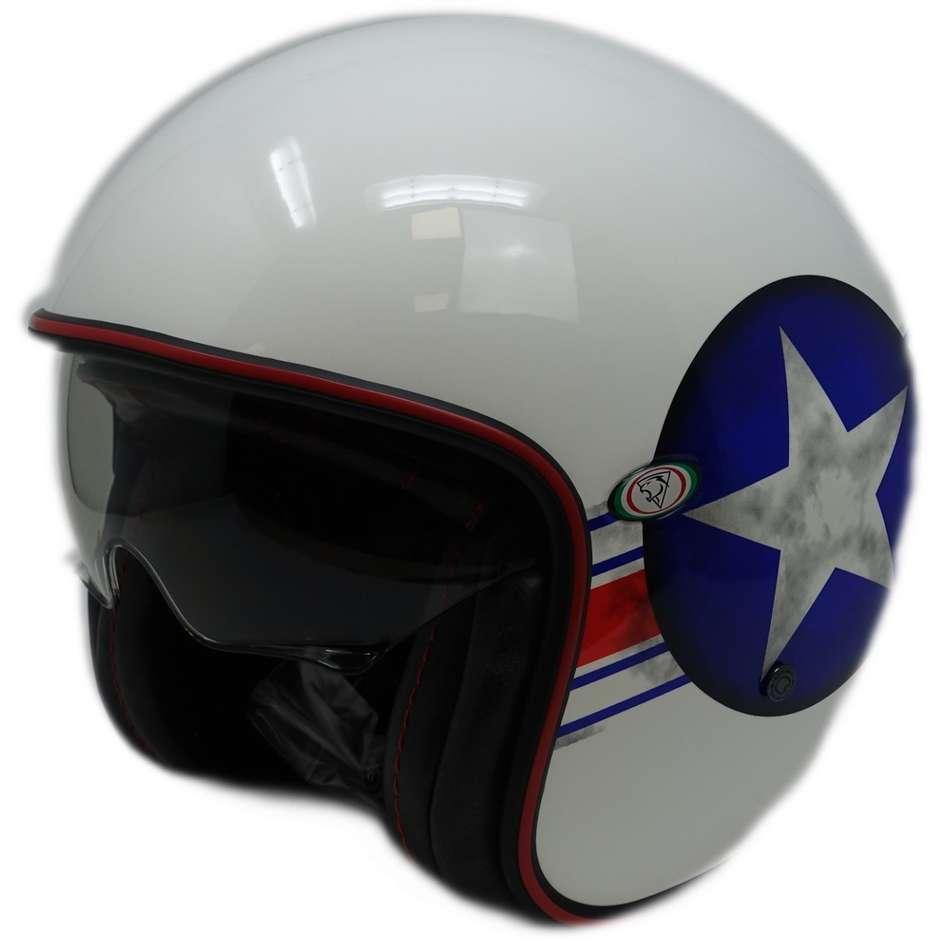 Casque Moto Jet Custom Premier VINTAGE STAR CAP 8 Limited Edition