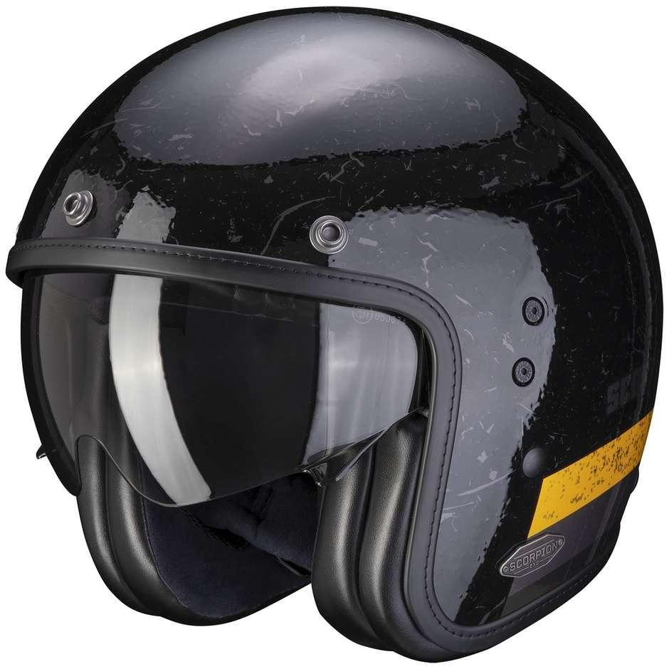 Casque Moto Jet Custom Scorpion BELFAST SHIFT Noir Or